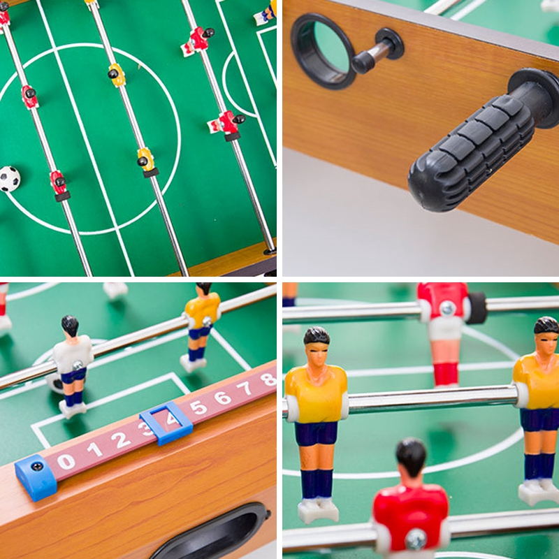 """27"""" Wooden Foosball Soccer Table Football Game Arcade Room Desk Playfield Sports Indoor Competition Toy Family Tabletop Birthday Gift Parent Children"""