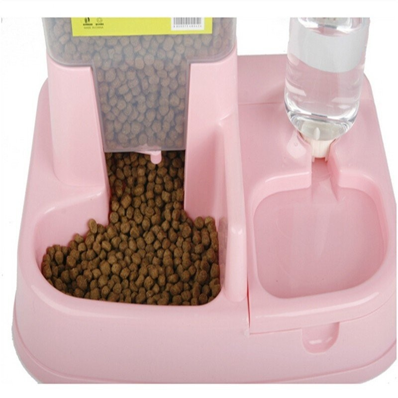 Automatic Pet Food Water Feeder Dispenser Cat Kitten Dog Puppy Auto Pets Drinking Fountain Food Dish Bowl Supplies Large High Capacity