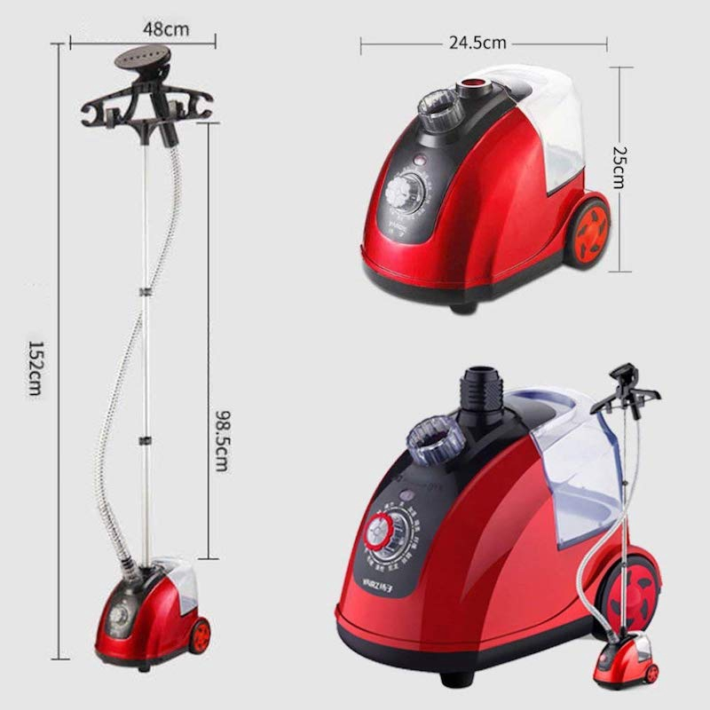 12 Mode Adjustable 1800W Garment Steamer Iron Standing Hanging Steam Clothes Multifunction 1.8L