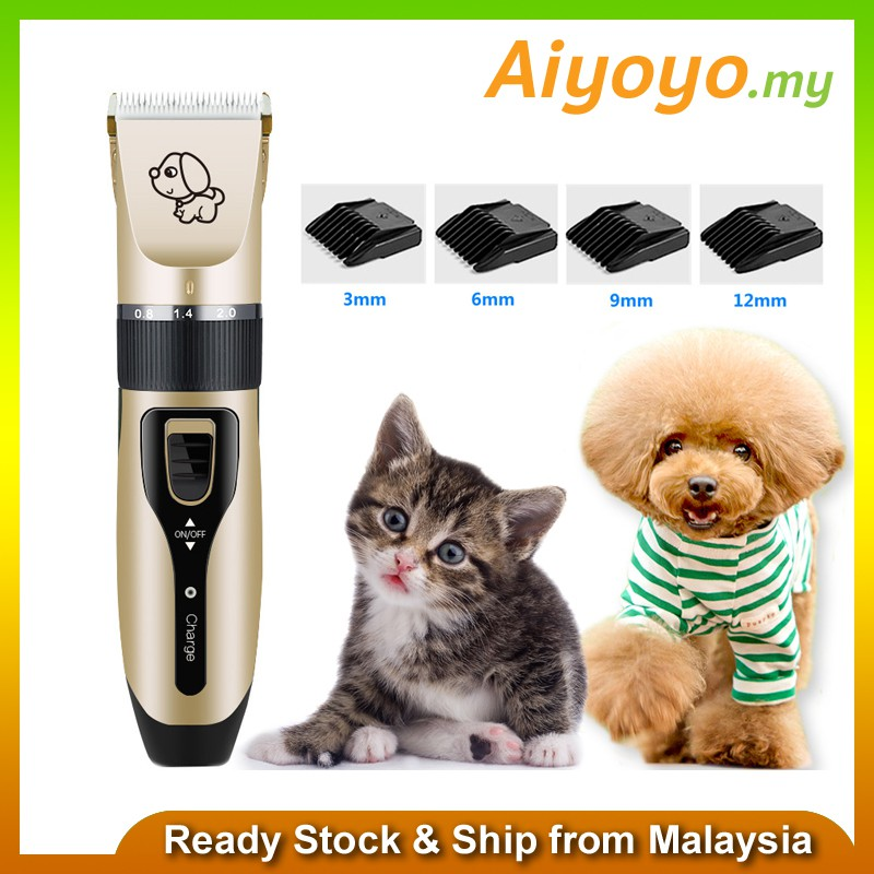 Electric Grooming Kit Animal Pet Cat Dog Hair Cut Trimmer Clipper Shaver Set Kitten Puppy Pets Remover Kits