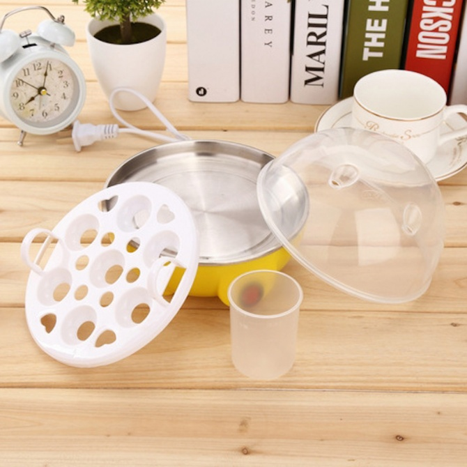 Electric Half Boiled Egg Boil Boiling Boilers Eggs Steamer Steamed Cooker Soft Hard Machine Steaming Multi Function Automatic Power Off
