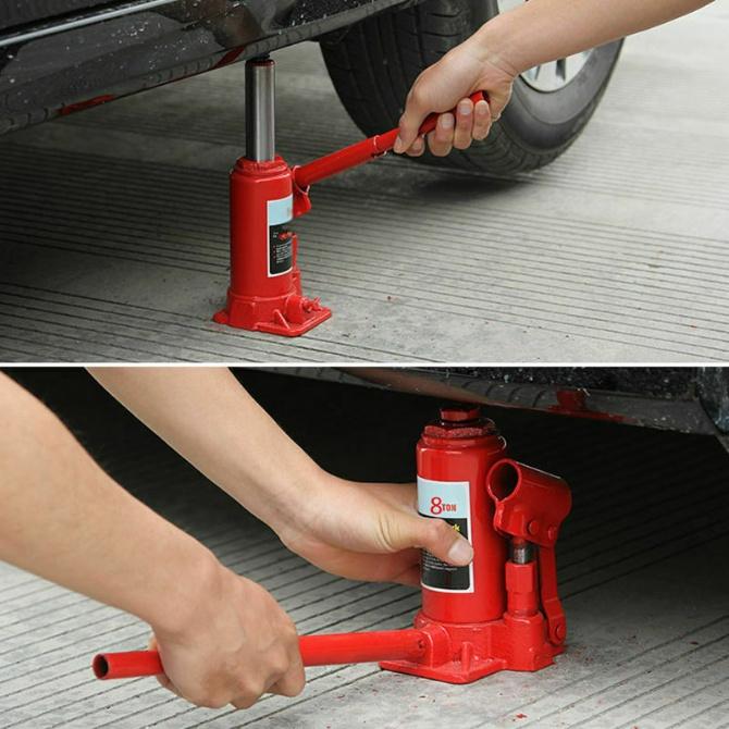 4 Ton Heavy Duty Hydraulic Lifting Bottle Jack Floor Jack Car Vehicle Truck Repairing Hand Tool Car Van SUV Workshop Repair Work Tyre