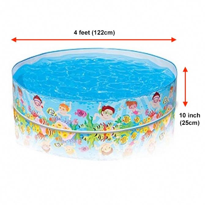 INTEX Swimming Pool Outdoor Fun Pool Swim Kid Family Children Kids Baby Home Toy Game Bath Basin Showering Playing