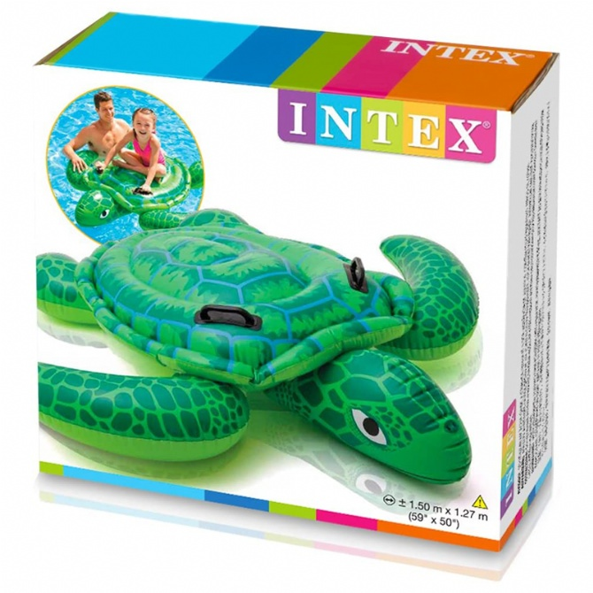 INTEX Inflatable Lil Sea Turtle Ride On Pool Float Swimming Pool Swimming Ring Swimming Float Baby Kids Pelampung Duduk 57524