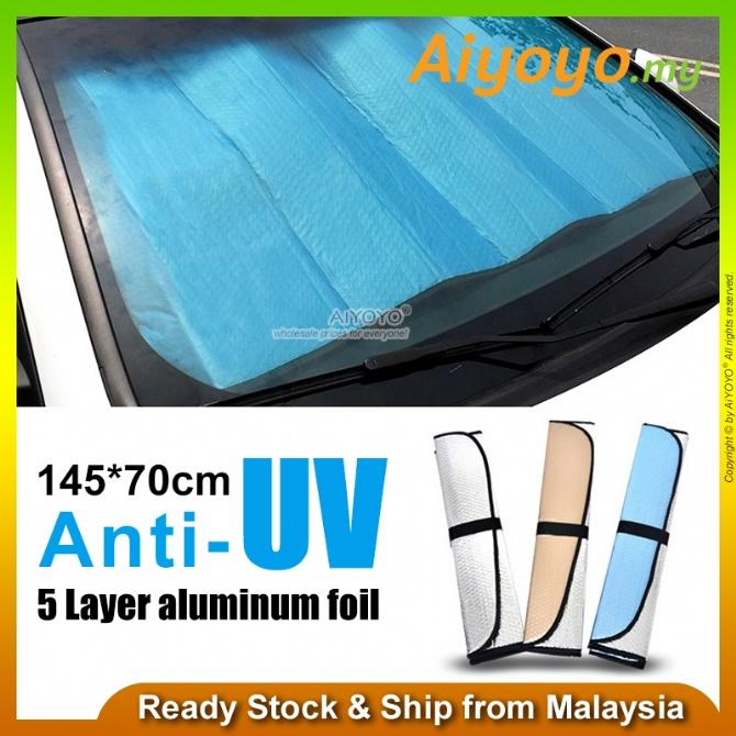 Foldable Aluminum Foil Car Windshield Sun Shade Car Sunshade Front Window Sun Shade SUV Trucks Vehicle Cool Block UV