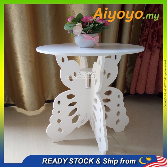 Wooden Butterfly End Side Table Coffee Table Small Table Bedside Table Tea Table Living Room Bedroom Balcony Magazine Rack?Book Rack