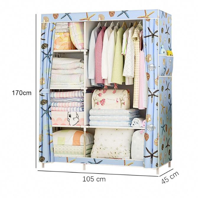 Wardrobe Closet Cabinet Bedroom Furniture Almari Baju Rak Baju Cloth Organizer Cloth Hanger Rack Rak Pakaian Gantung Baju Storage Rack Coats Rack Shoe Rack Storage Organizer