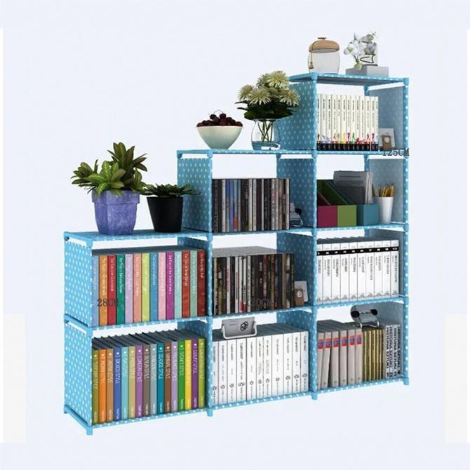 Book Shelf Bookcase Rak Buku Book Shelves DIY Book Storage Cabinet Storage Study Home Organizer Storage Cabinet Living Room Bedroom Kitchen Office Workplace Space Saver